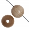 Wooden Bead Round 10mm Natural